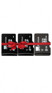 Strontium 4 GB + 4 GB + 8 GB (Class 6) MicroSD Memory Card-Set of 3