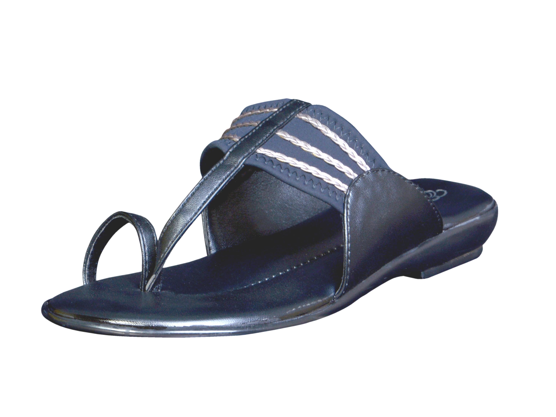 Exotique Comfortable Flat Slip-Ons EL0006BK