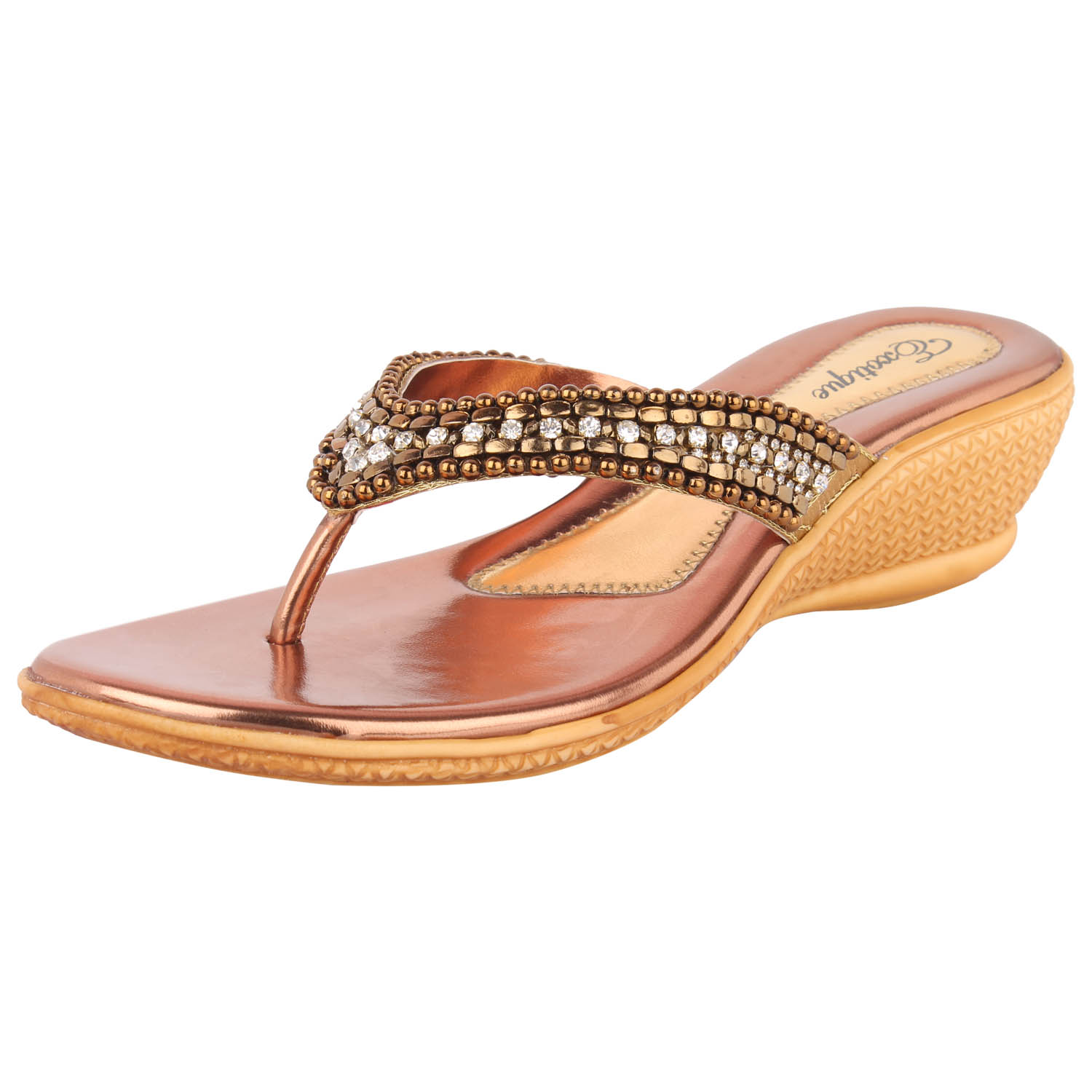Exotique Women Bronze Wedges -EL0014BZ
