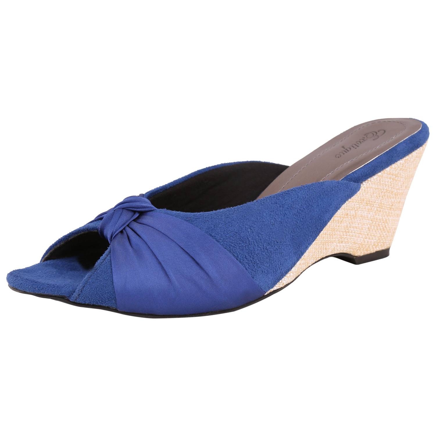 Exotique Women Blue Wedges