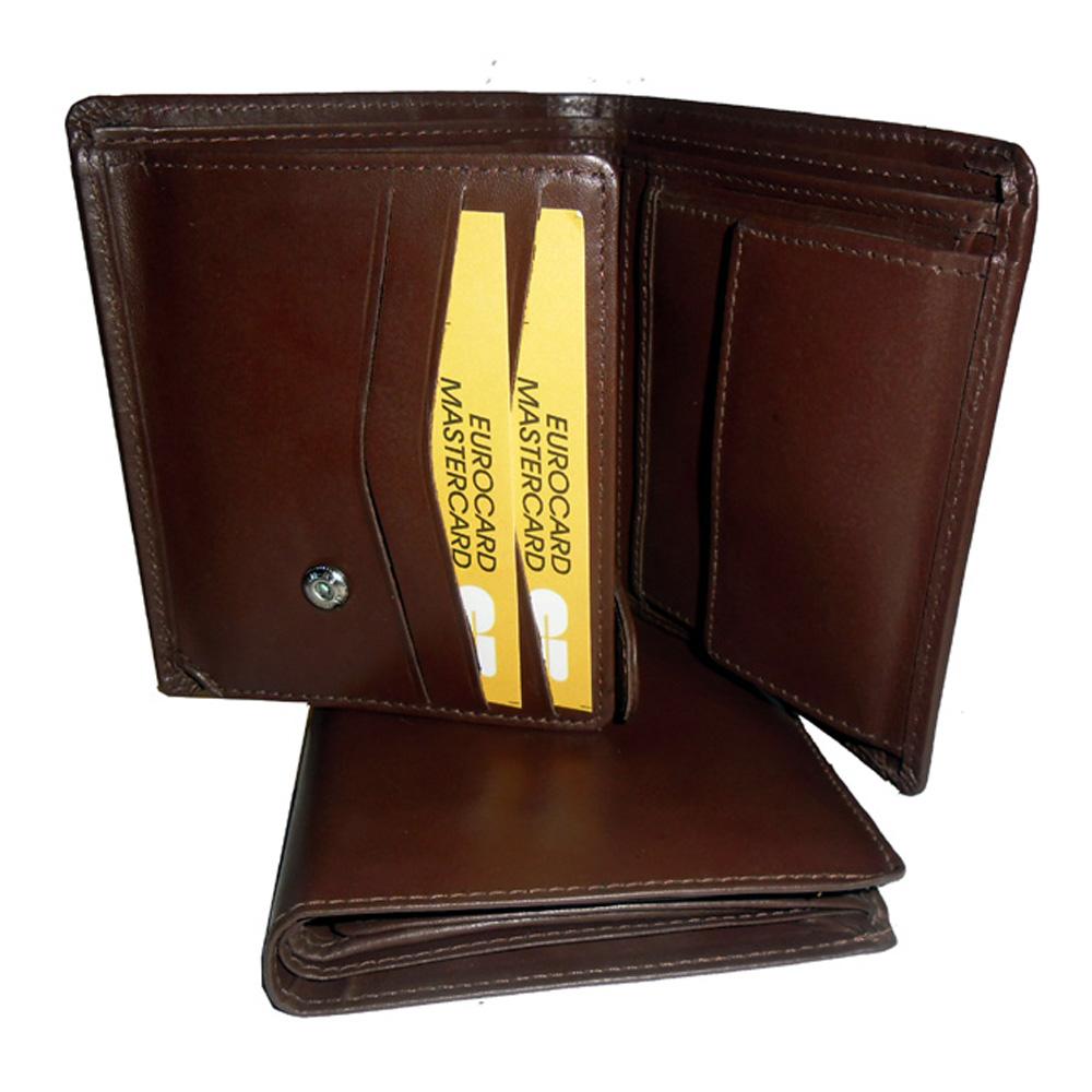 Genuine Leather Men's Wallet-729-b077-brown