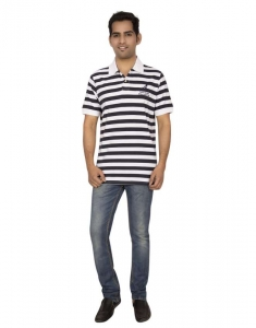 Red Line Striper Soft Sueded Cotton Casual Polo T-Shirt - RLMSP-F14-003