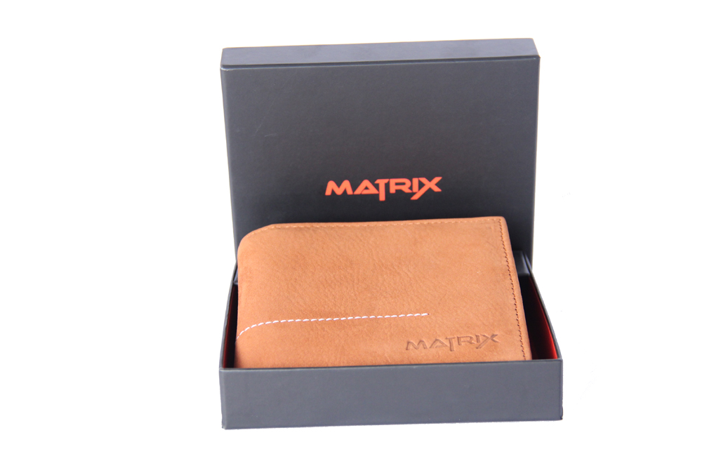 Matrix Leather Wallet For Men (MMW102)