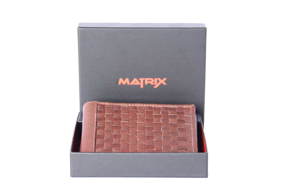 Matrix Leather Wallet For Men (MMW103)