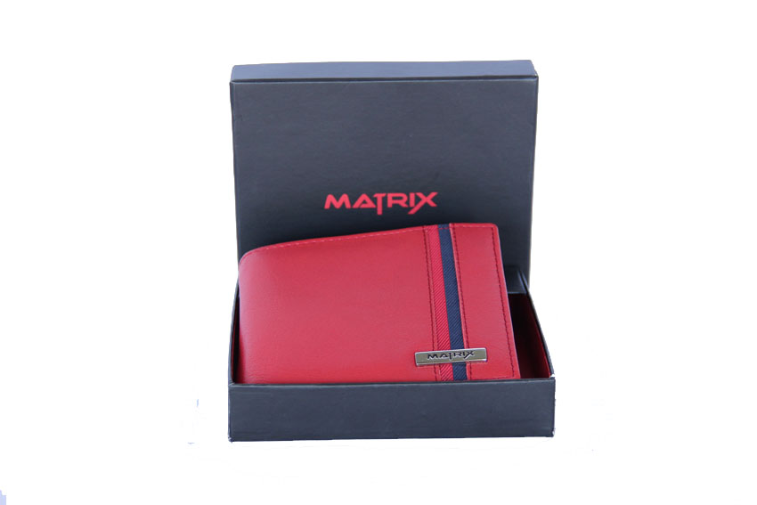 Matrix Leather Wallet For Men (MMW111)