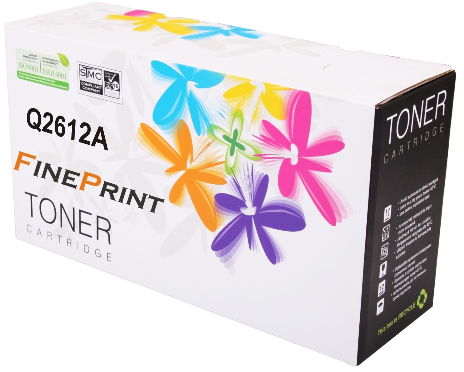 Fine Print 12A/Q2612A Toner Cartridge for Hp Printer 1010/1012/1015/1018/1020/3015/3020/3030/3050/3052/3055/1005mfp/1319f