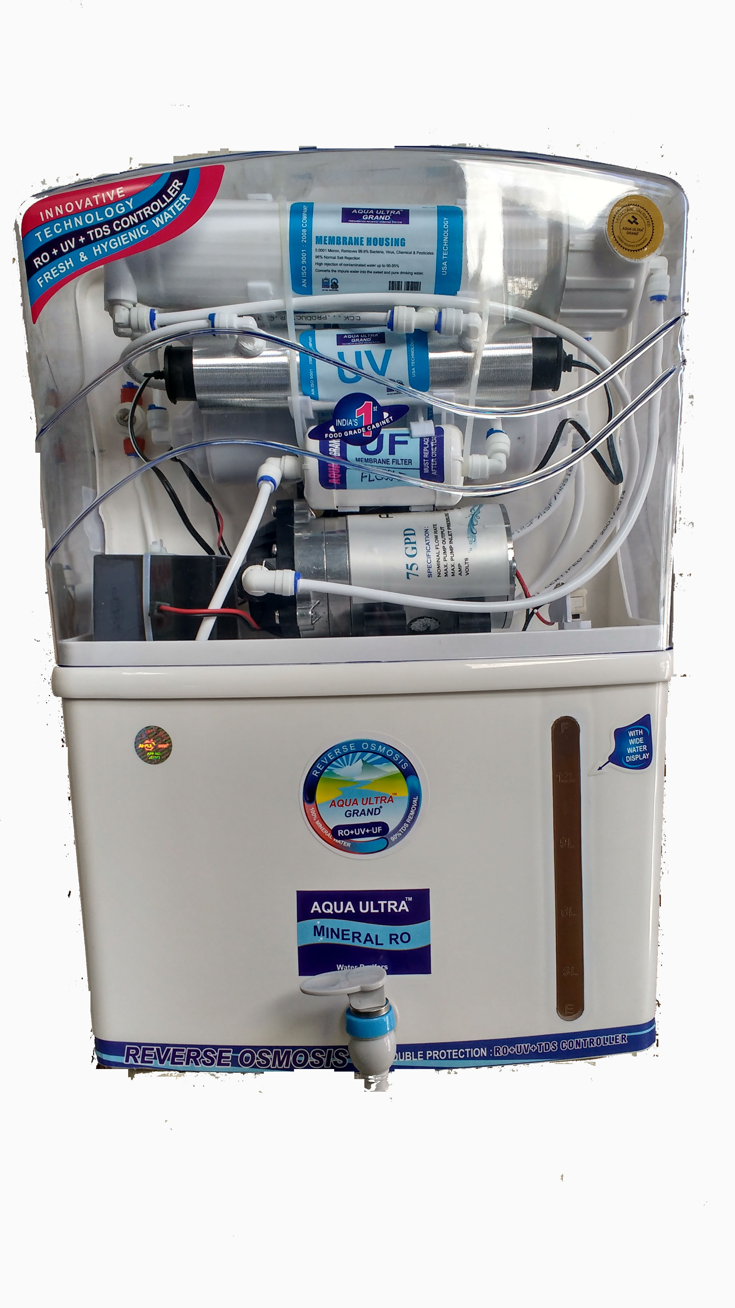 AQUAULTRA GRAND RO+UV+UF  TDS Control Electric Water Purifier