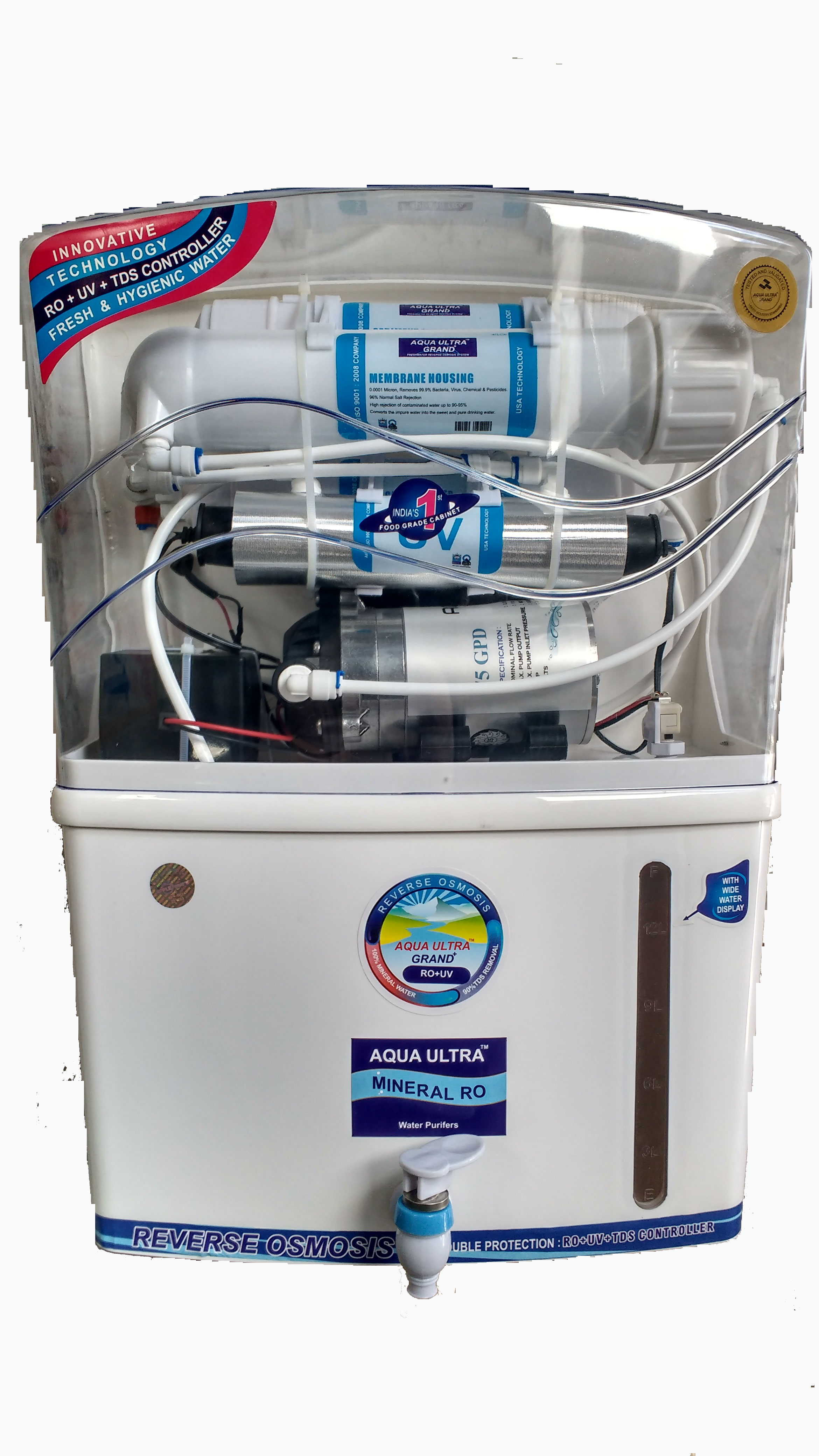 Aquaultra grand RO+UV+ TDS Control Electric Water Purifier