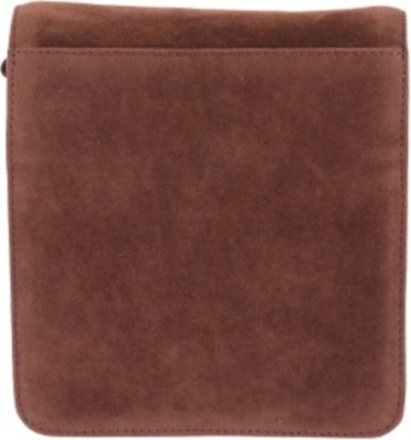 NAPPASTORE SUEDE LEATHER SLING BAG (BROWN,SMALL)