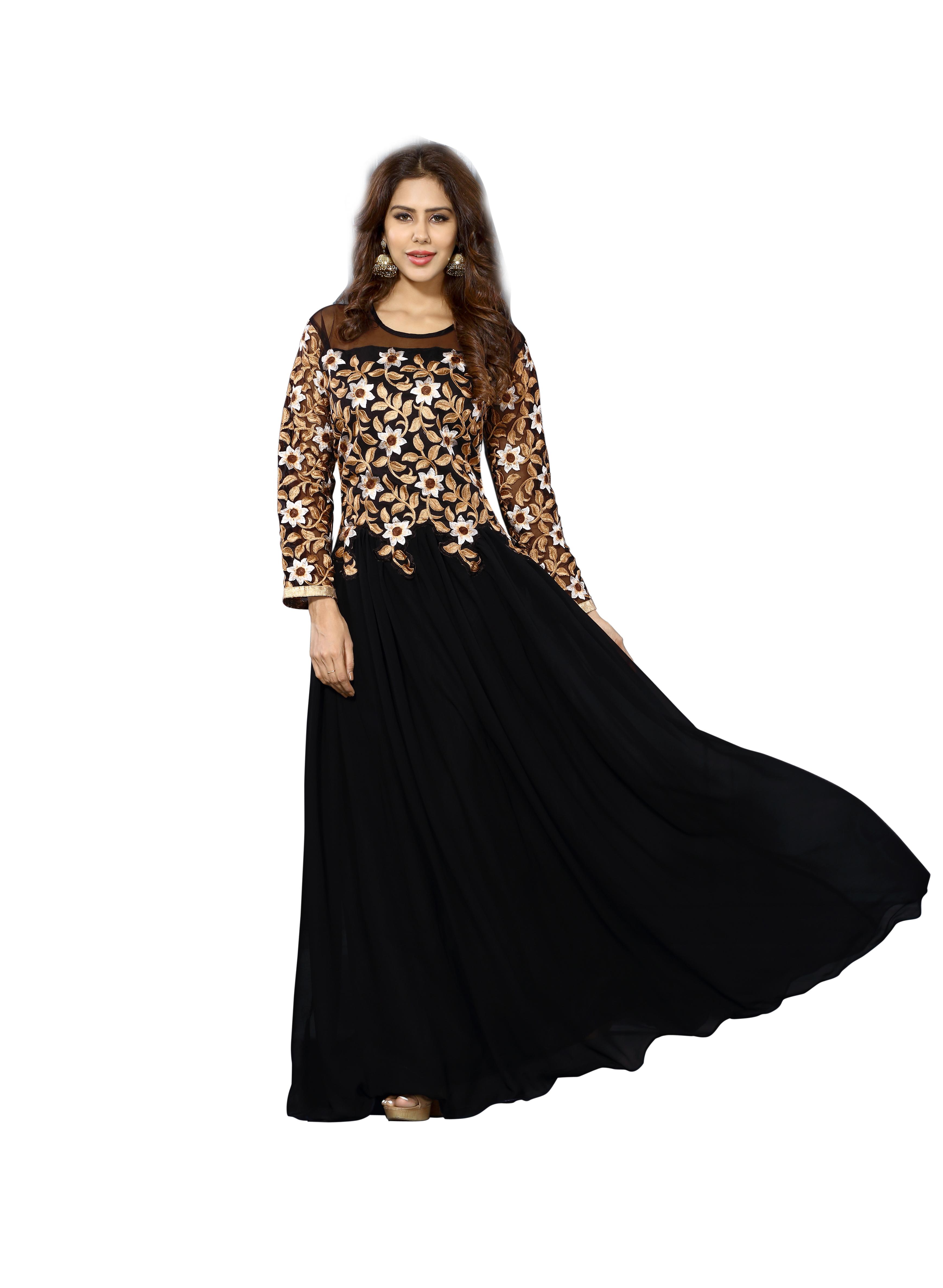 Liloodi Fashion Black Georgette Gown