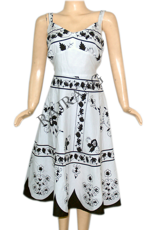 White Printed Frock