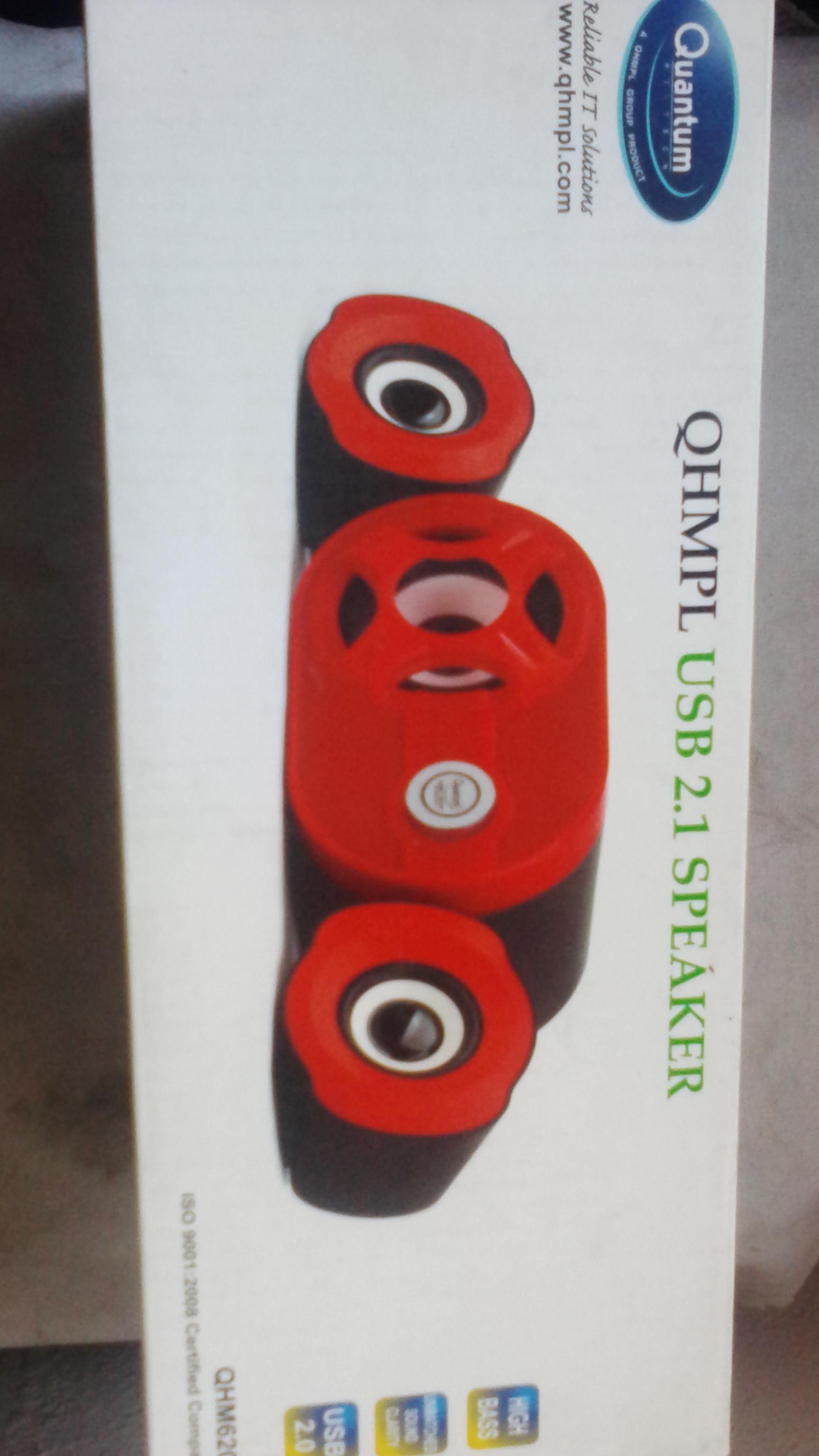 Quantum QHMPL USB 2.1 speaker model QHM6200 red color