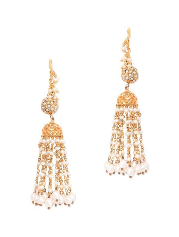 Aradhyaa Jewel Arts-Arl`04-22crt Gold Plated Pearl emblished pendent set