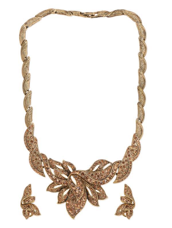 Aradhyaa Jewel Arts-Arl126-Gold Stone emblished pendent set