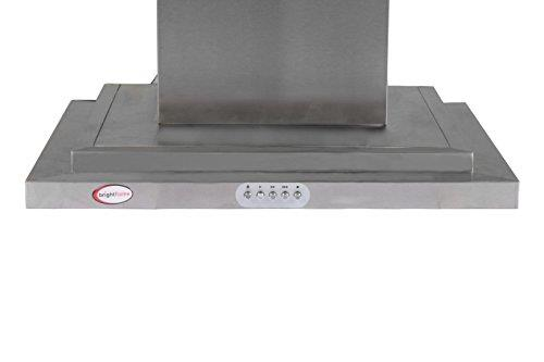 Brightflame Kitchen Chimney Lily Stainless Steel Double Bidding  1100M3/Hr 60 CM